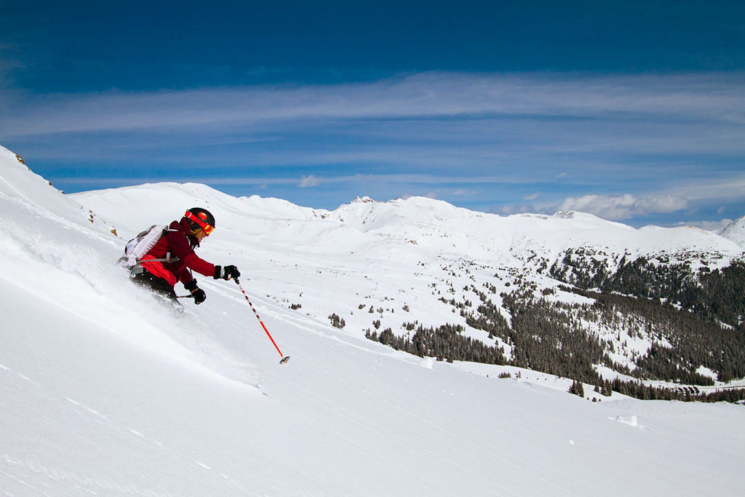 skier at Loveland Ski Area