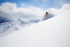 skier at Marmot Basin